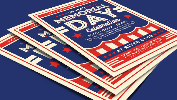 Memorial Day Flyer Template  Free  Premium Download