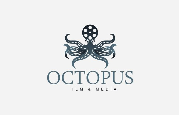 Multipurpose Logo Template Of Octopus