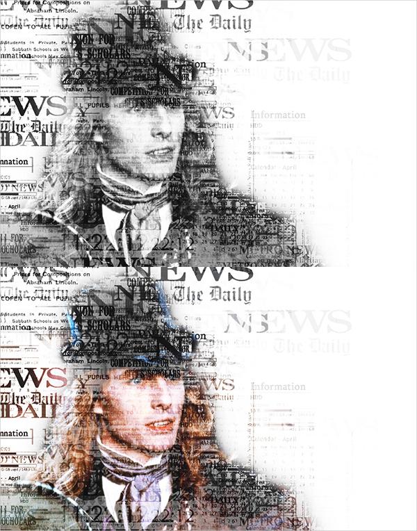 Newspaper Text Photoshop Design Actions