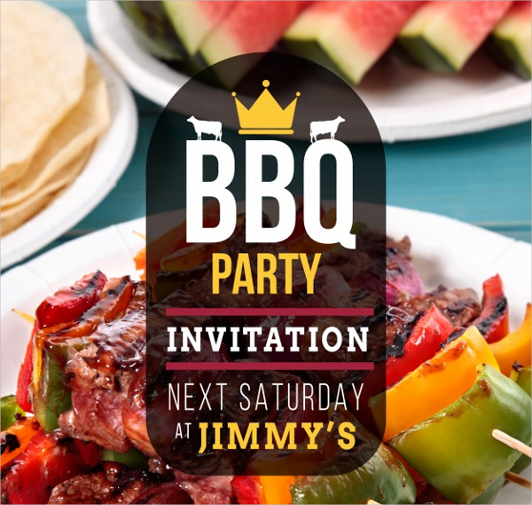 Nice BBQ Party Invitations