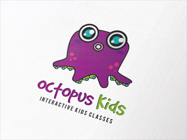 Octopus Childrens Logo Template