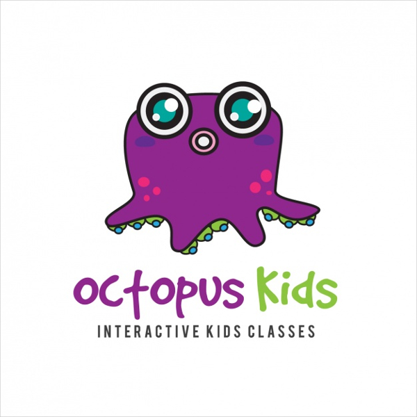 Octopus Kids Education Logo Free Download