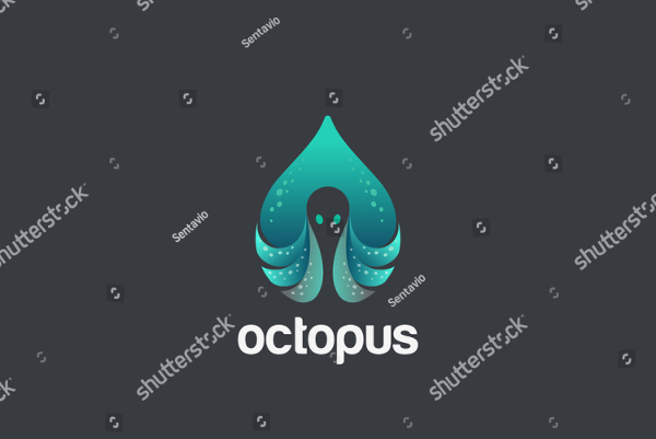 Octopus In Drop Logo Design