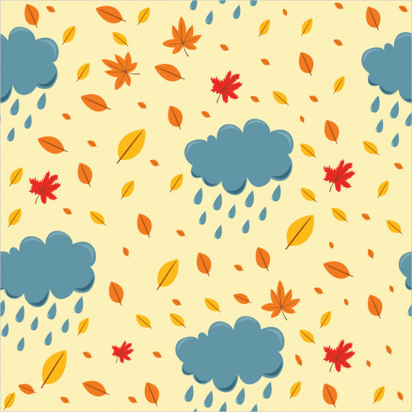 Orange Autumn Pattern