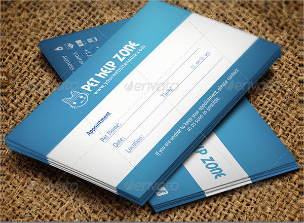Pet Appointment Business Card Template