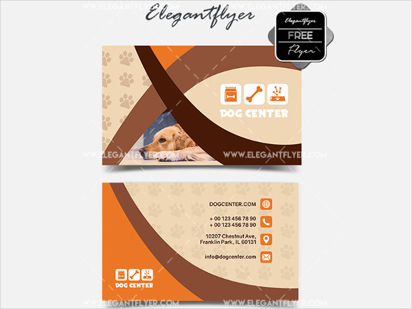 Dog Center Free Business Card Template