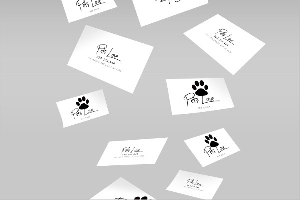 Impressive Business Card For Pet Related Business