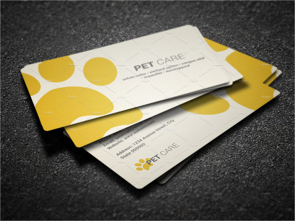 Fully Editable Pet Care Business Card Template