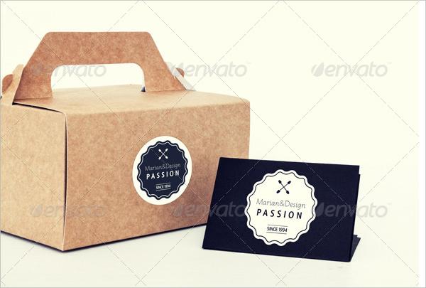 Photorealistic Paper Box & Logo Mock-Up