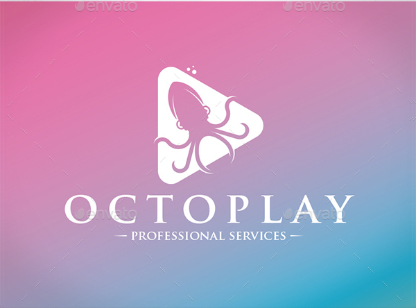 Play Octopus Logo Template