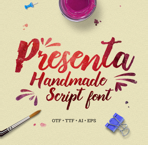 Presenta Handmade Script Fonts