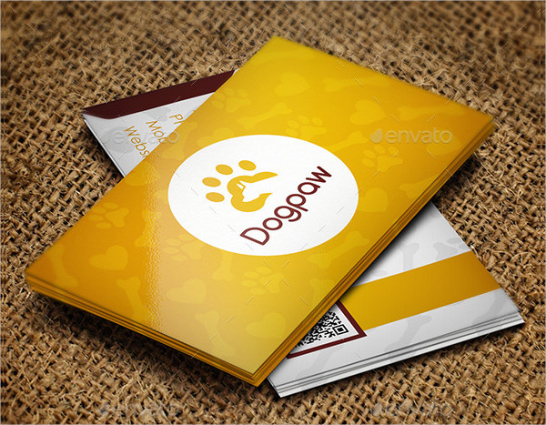 Professional Pet Business Card Template