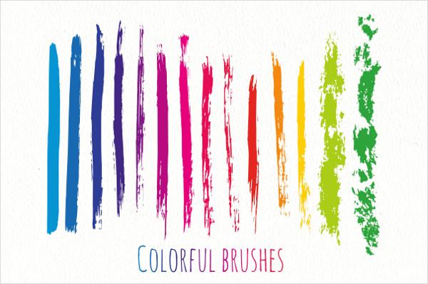 Colorful Rainbow Ink Brushes