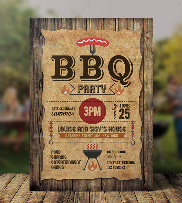 20+ BBQ Party Invitation Templates - Free & Premium PSD Downloads