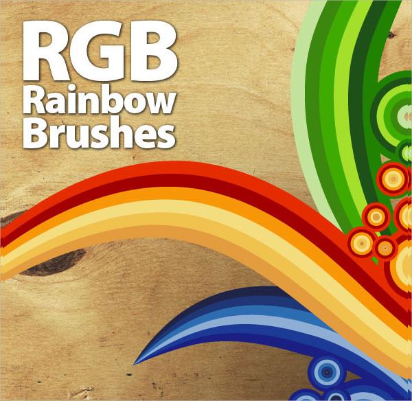 Cheerful Rainbow Brushes Design