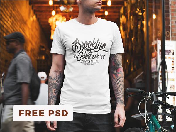 Free PSD Showcase T-Shirt Mockup