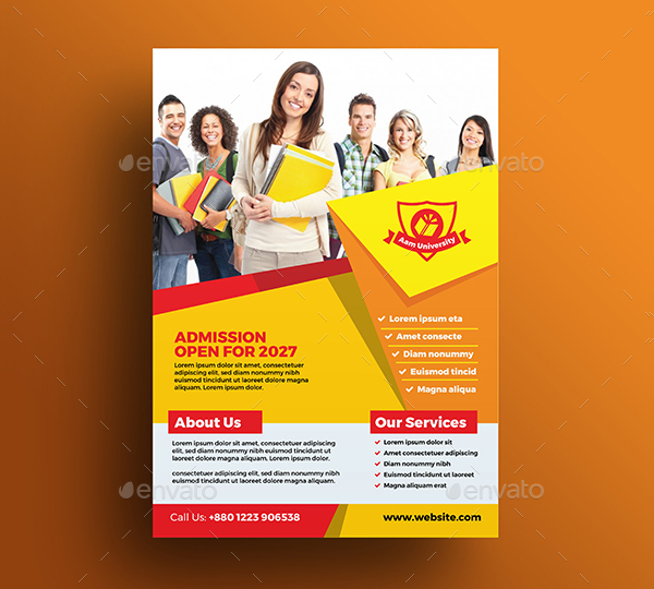 Simple Education Advertising Flyer Template