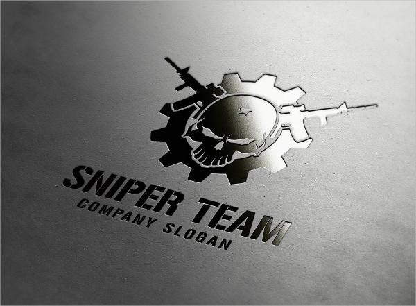 Sniper Team Rocket Logo Template