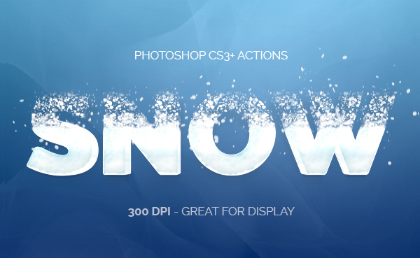 Snowy Text Photoshop Actions