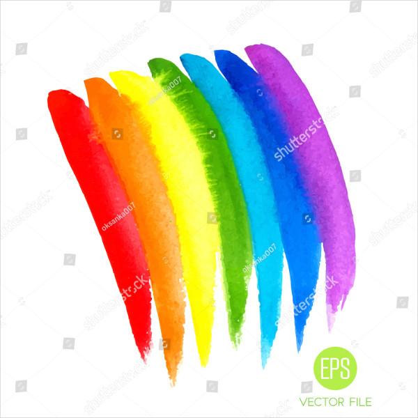 Splatter Rainbow Hand Drawn Brushes