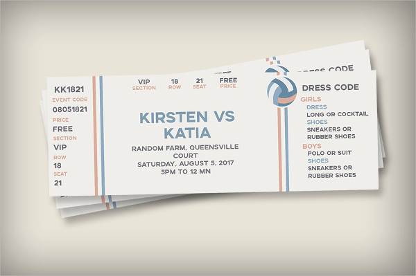 Sports Themed Ticket Invitation Template