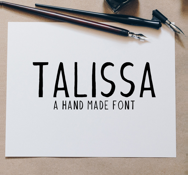 Handmade Talissa Fonts Template