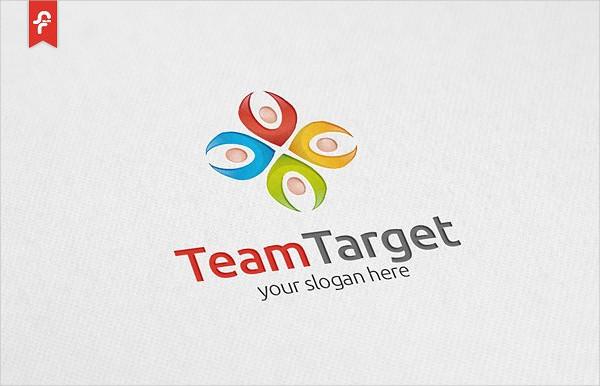 Team Target Logo Design