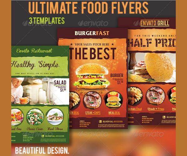 Ultimate Food Flyers Templates
