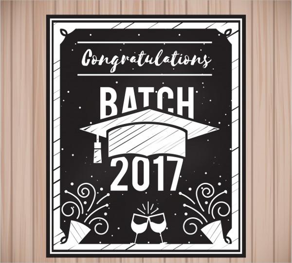 Free Graduation Vintage Invitation Template