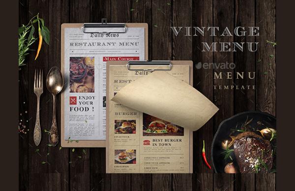 25 vintage menu templates free premium psd ai vector downloads