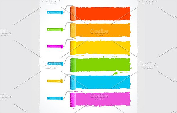 Vector Rainbow Illustration Brushes