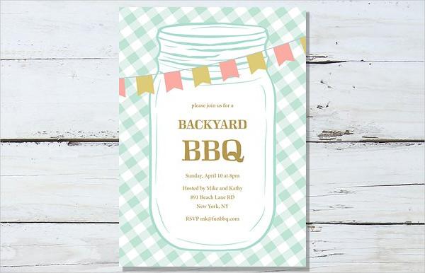BBQ Fun Summer Party Invitation