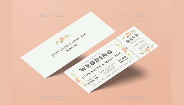 Wedding Invitation Tickets Templates