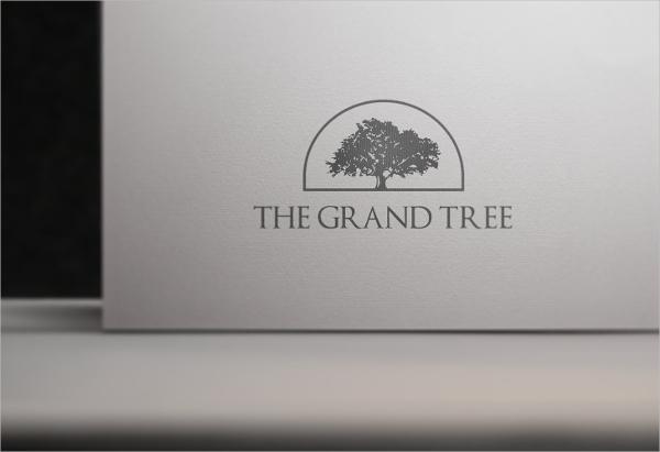 White Paper Tree Logo Mock-Up