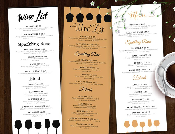 19 wine menu template free premium psd ai illustrator downloads