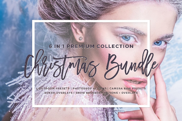 Winter Text Lightroom Photoshop Bundle