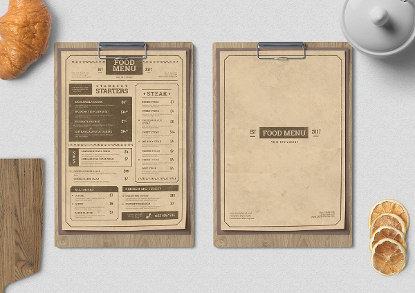 menus design templates free