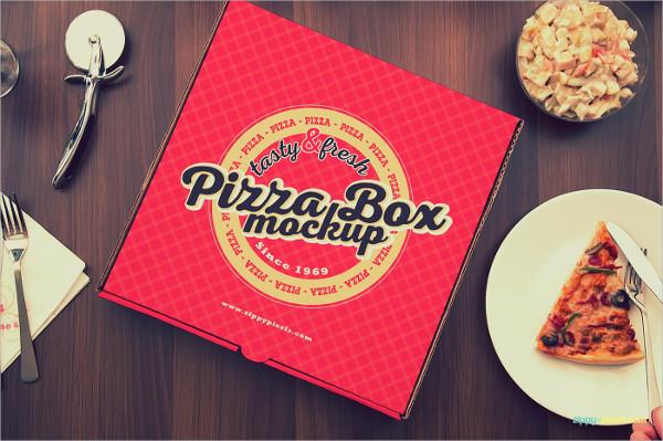 15 Yummy Pizza Box Mock-Up Template
