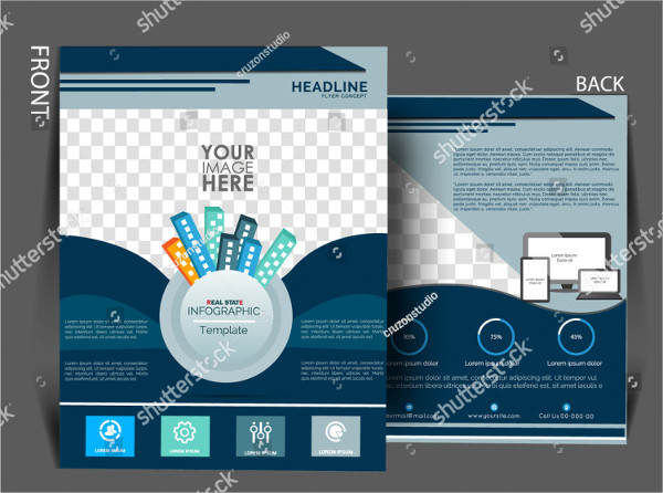 Abstract Real Estate Catalog Design Template