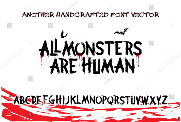Handcrafted Horror Fonts
