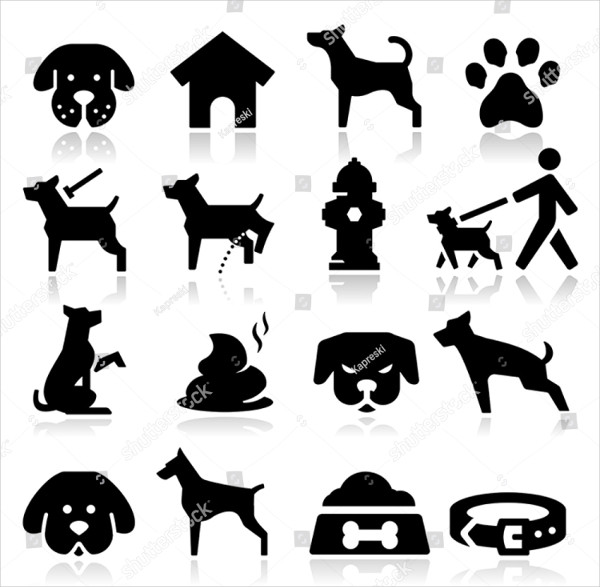 Animal Food Bowl Dog Icon Template