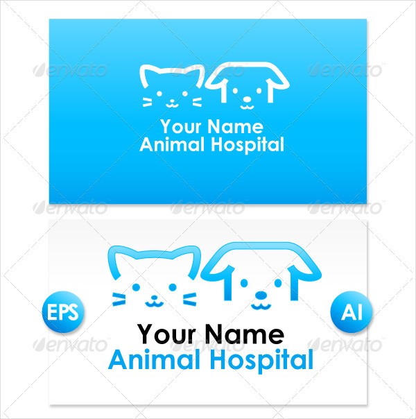 Hospital Animal Logo Design Templates