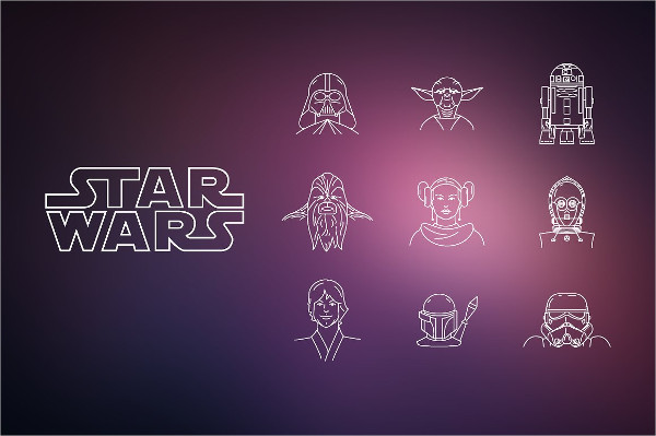 Awesome Vector Star Icon Set