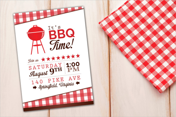 BBQ Barbeque Time Invitation Template