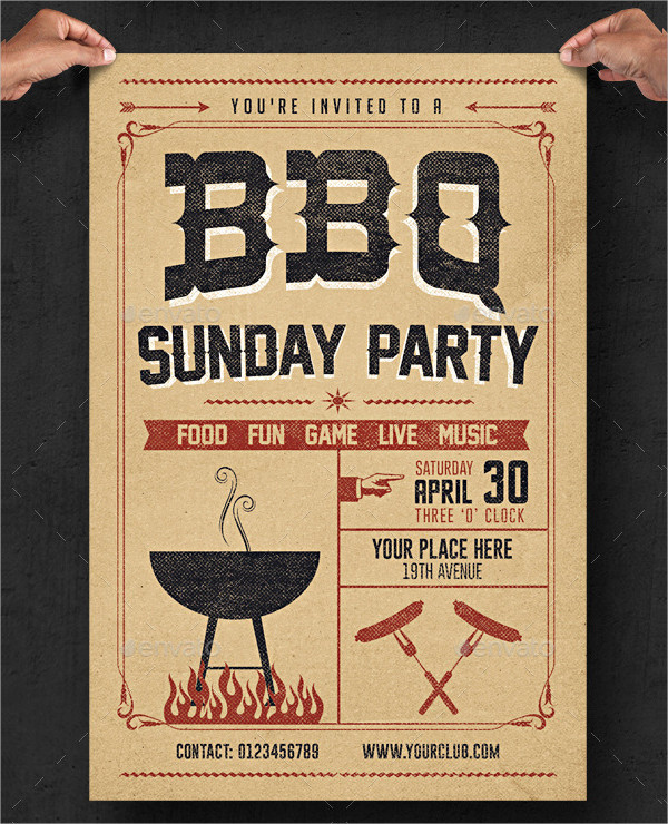 23 bbq invitation templates free premium download. Black Bedroom Furniture Sets. Home Design Ideas