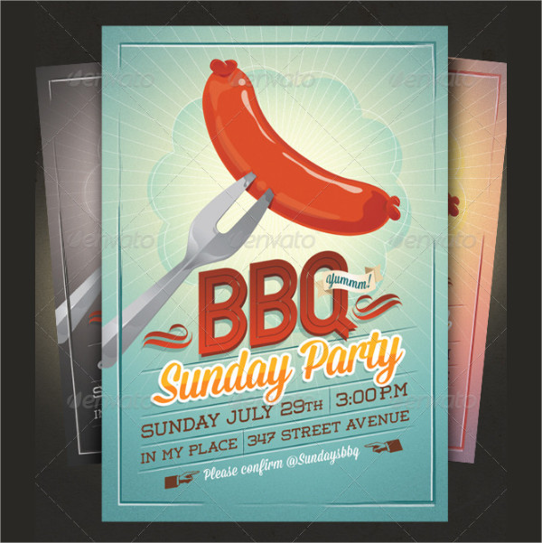 BBQ Summer Party Invitation Template