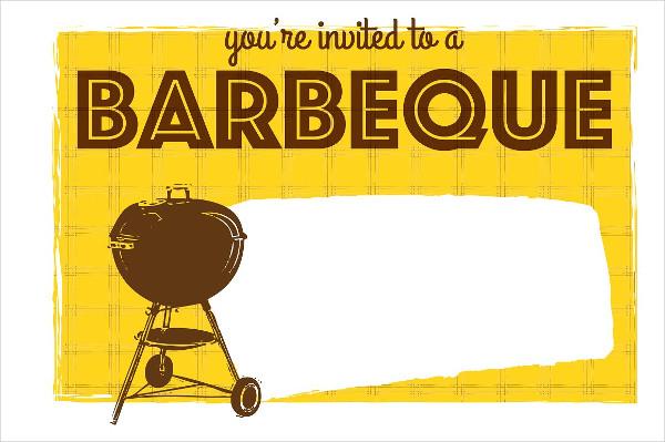 Barbeque Grill Invitations Template