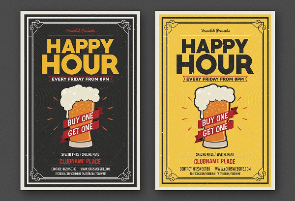 Best Happy Hour Flyers Bundle