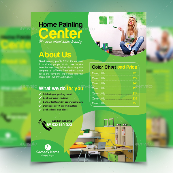 Best Home Painting Flyer Template