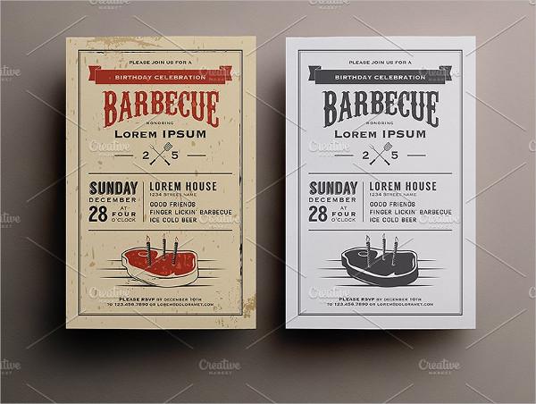 Backyard BBQ Birthday Invitations Template
